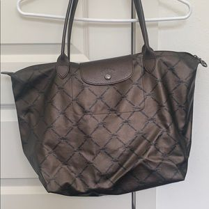 Longchamp large limited edition metallic tote